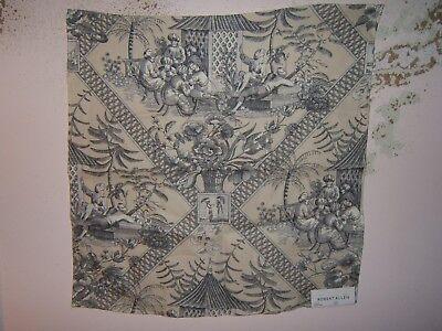"various colors Robert Allen /""Full Sail/"" Oriental Motif Toile fabric remnants"