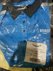 Amazon Women's Delivery Uniform Tropical Polo - Size XL Sealed In Bag New Unised