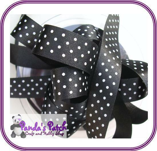 15mm Spotty//Dotty//Polka Dot Grosgrain Ribbon-Berisfords-Printed Ribbon-Crafts