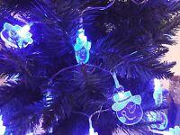 30 LED Novelty Santa Snowflake Angel Snowman Christmas Tree Fairy String Lights