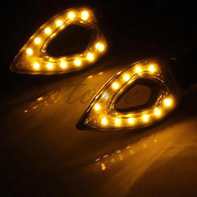 2x  Amber 12-LED Light Universal Motorcycle Turn Signal Indicators Blinker