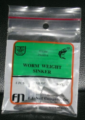 Fishing Weights Supplies Worm Weight Sinker Size 4 F.J Neil Co.