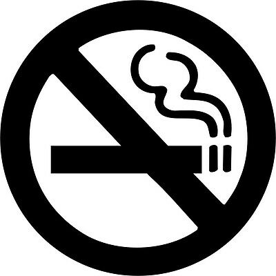 No Smoking Sign Color Printed Decal Sticker Car Window Wall