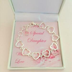 Détails Sur Bracelet Pierre De Naissance En Boite Cadeau Pour Maman Soeur Fille