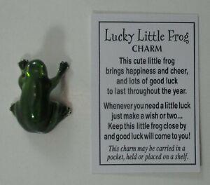 o Lucky little frog charm figurine er27109 Ganz miniature mini cute happiness