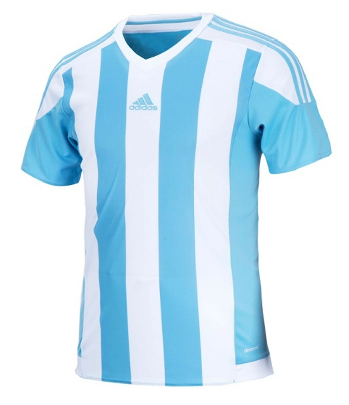 Adidas Men Stripe 15 Climacool S S Shirts Skybluee Soccer Top Tee Jersey S16139