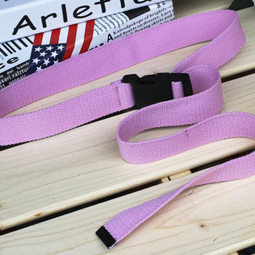 Unisex Waist Belt Mens Boys Plain Webbing Waistband Casual Canvas Belts fd