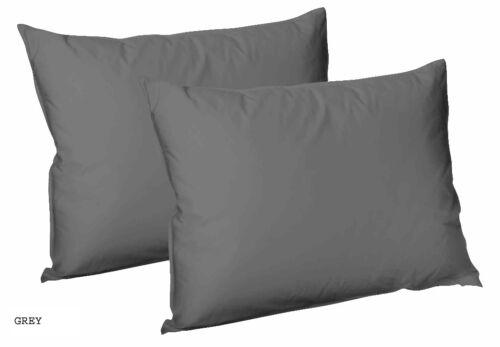100/% Coton Égyptien Satin Meilleure Qualité T300 Paire De Taie D/'oreiller Taille 50x75 cm
