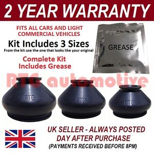 UNIVERSAL-BALL-JOINT-TRACK-ROD-END-RUBBER-BOOT-GAITER-KIT-GREASE-FITS-ALL-CARS