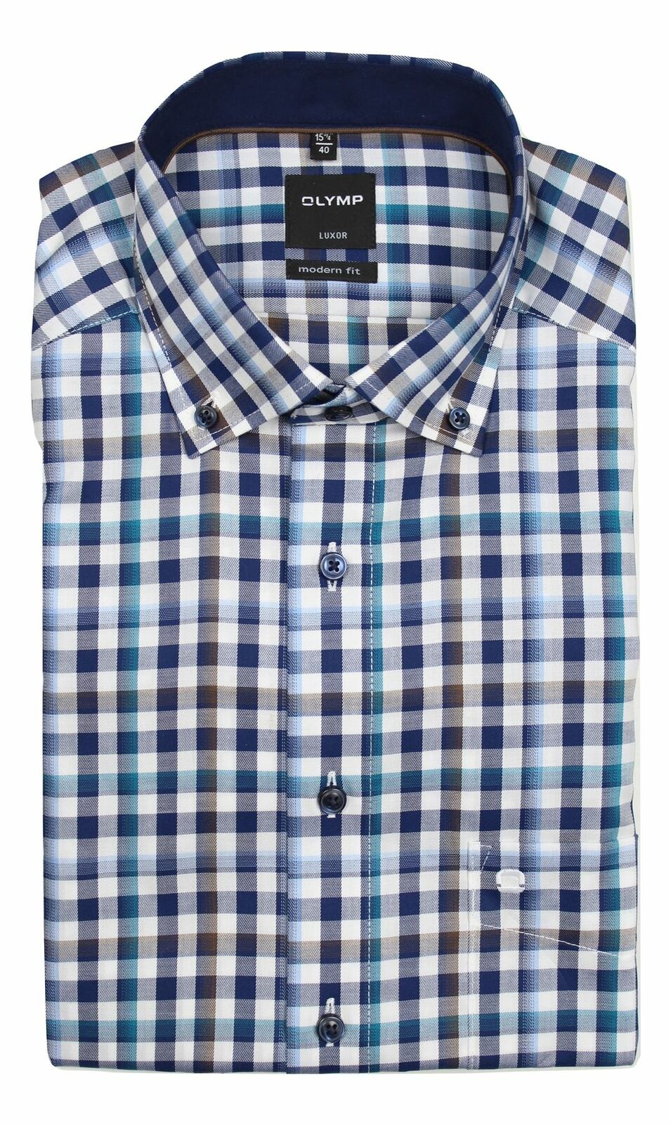 Navy Mix Check Button-Down