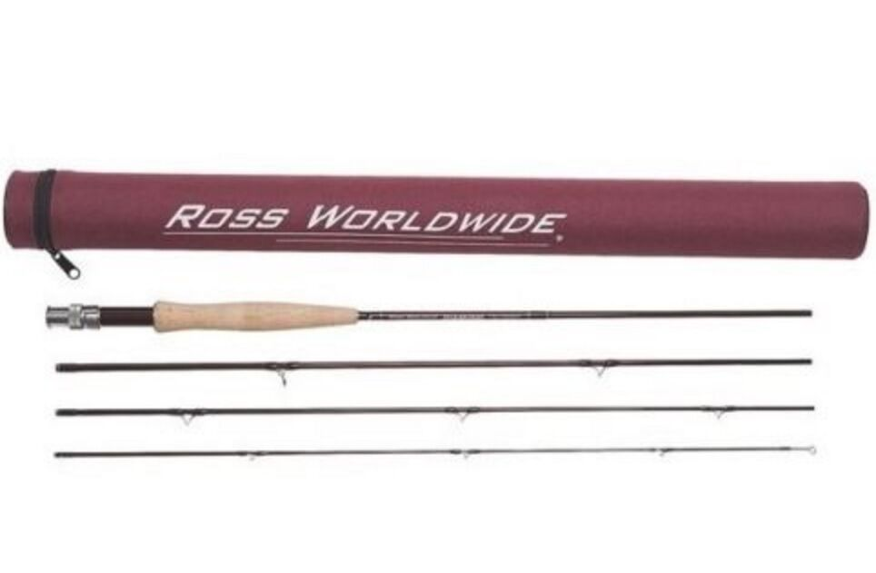 Ross Ross Ross Diamond RX Fly Rod  490-4 Freshwater 4wt 9ft 4pc NEW with case b6e3f6