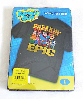FAMILY GUY FREAKIN' EPIC NEW Large T-Shirt DC Justice League Superman Batman