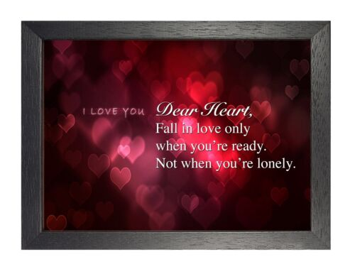 Dear Heart 2 Inspiration Quote Poster Pink Photo Lonley Picture Print Love