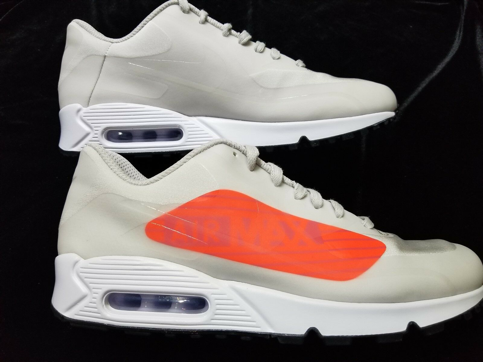 New MENS NIKE AIR MAX 90 NS GPX LIGHT GREY CRIMSON    Size 10.5
