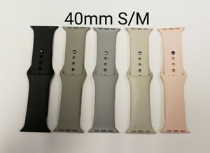 Apple Used Silicone iWatch Bands 40mm S/M Various Colors