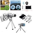 Universal 12X Zoom Camera Phone Telephoto Telescope Lens + Mount Tripod Sliver