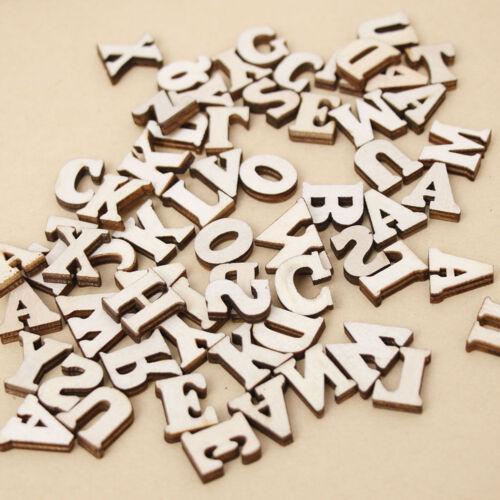 Decor 100Pcs Mixed Natural Wood Letter/&Alphabet Craft Flatback Scrapbooking