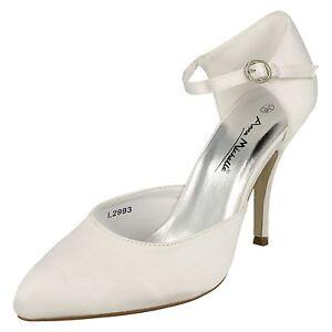 femmes Anne Michelle MARIAGE NOCES bout pointu escarpins hauts talons L2993
