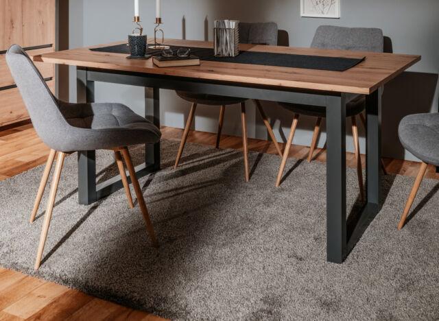 TOKARA Esstisch Tisch mit Kufen Kufentisch 140x90