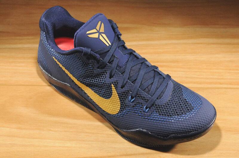 Mens Nike Air Kobe XI Elite Sneakers New Phillipines Navy gold 836183-447 sku AA