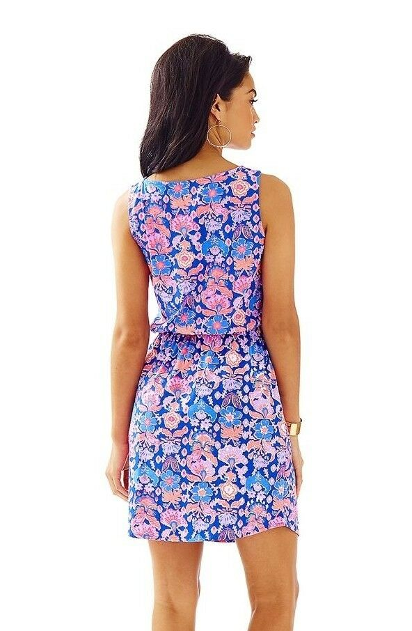 Lilly Lilly Lilly Pulitzer Windward Iris bluee Werk It Engineered Marlow Dress M 6d8412