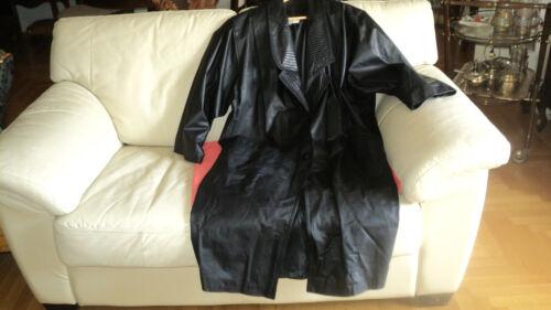 VINTAGE FRENCH SIMON GUETTA LEATHER BLACK COAT ATT