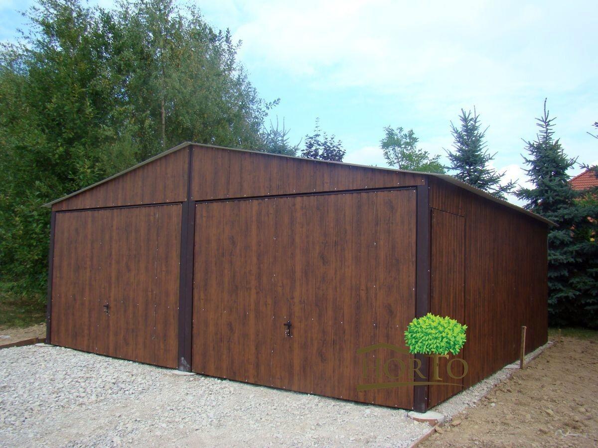 6,00 x 6,00  NUSSBAUM Schuppen Blechgarage Garage Fertiggarage Metallgarage