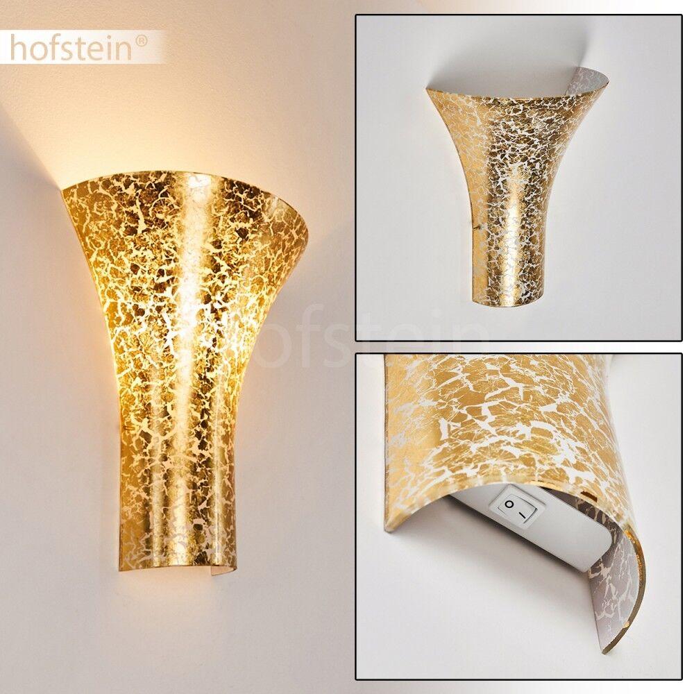 EGoldfarbene Up Down Wand Lampen Schalter Flur Leuchten Glas Wohn Schlaf Zimmer