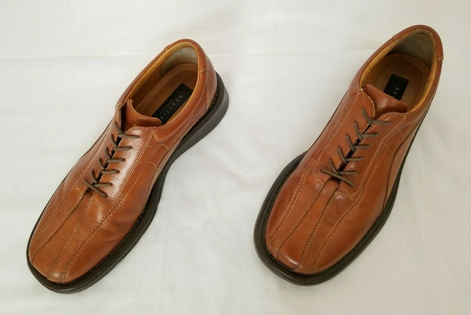 Mens Size 10 Brown Kenneth Cole Reaction Dress Leather Shoes Q20163 preowned