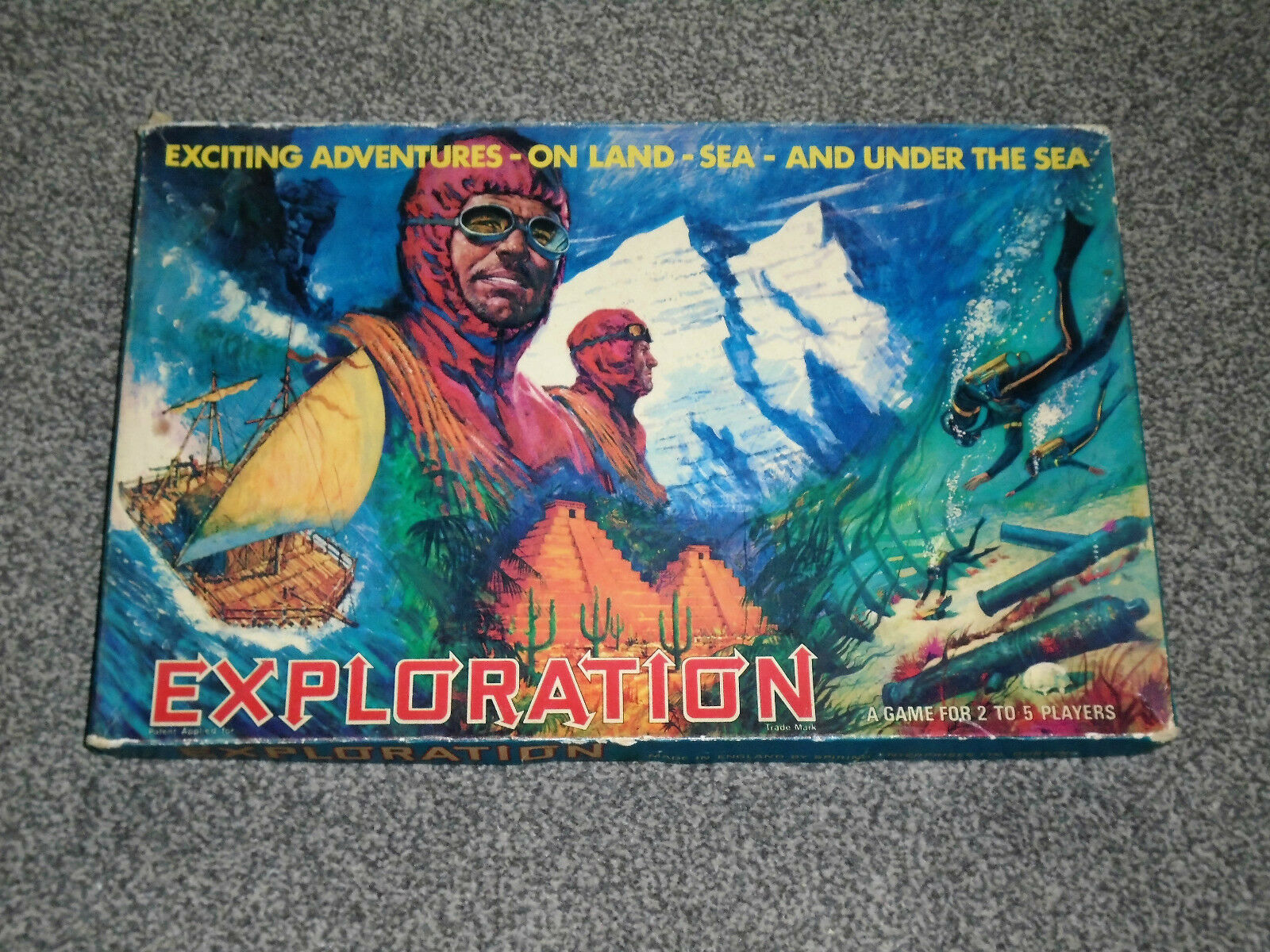 EXPLORATION GAME   RARE 1967 VINTAGE SPRING ENTERPRISES EDITION VGC(FREE UK P&P)