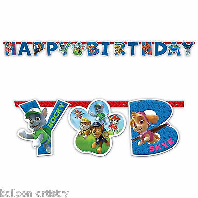 1.6m Paw Patrol Puppy Pets Children's Birthday Party Letter Banner Decoration