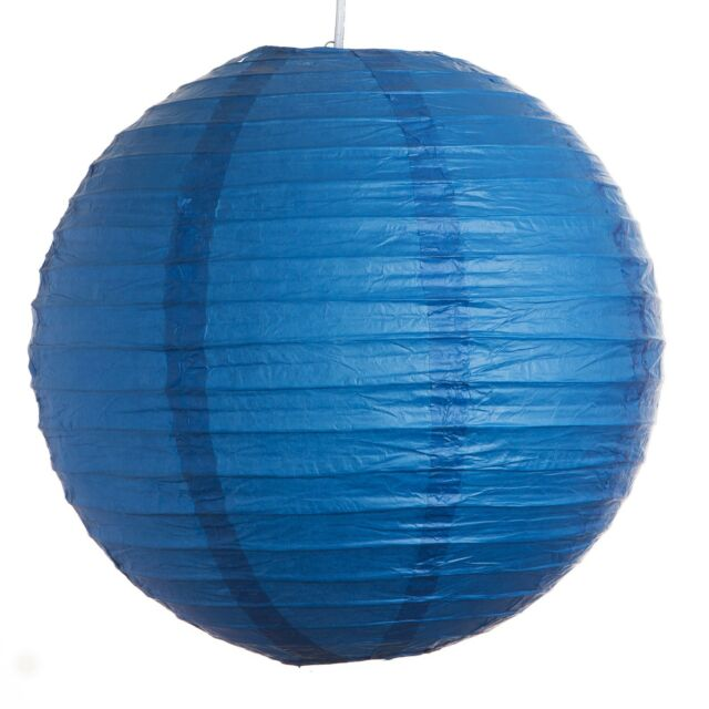 "Dark Blue Paper Party Wedding Lanterns - 12"", 16"" and 20"" sizes"