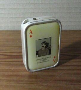 Lighter-Saddam-Hussein-turbo-Encendedor-vintage-funcional