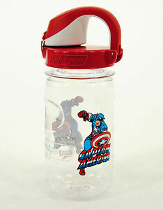 Nalgene Kids On The Fly 12 Oz Water Bottle Clear Red