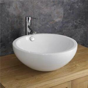 Moda Trento Deep Circular Ceramic Shaped Wash Basin Sink