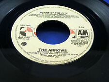 THE ARROWS - Heart Of The City / Tell It To My Heart - 1985 VG+/VG++ CANADA 45