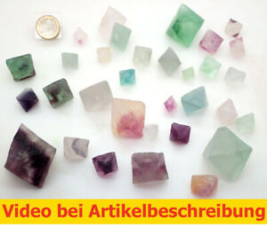 7305-500-gr-Fluorit-32St-Splaltoktaeder-Fluorite-Octahedron-diamond-MOVIE