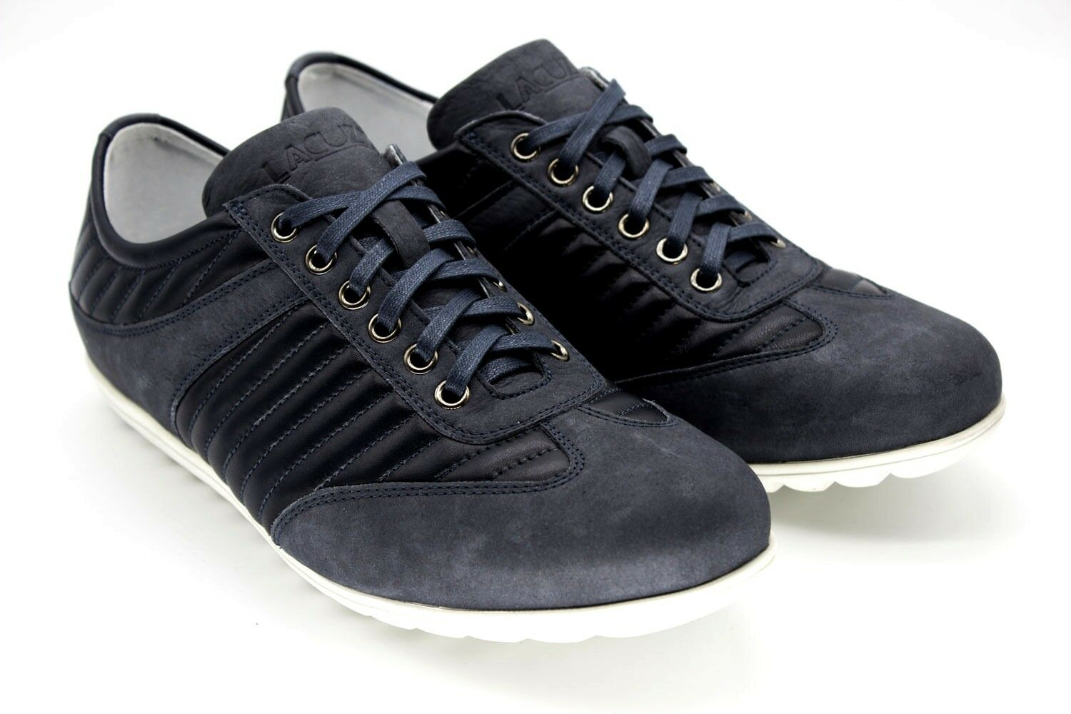 e95d48803e NEW ITALIAN DESIGNER MENS NAVY REL & SUEDE TRAINERS LEATHER *29 ...