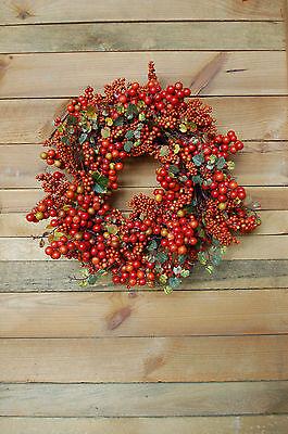 Beerenkranz Tanne Zapfen 37cm Beeren Weihnachten Weihnachtskranz Adventskranz …