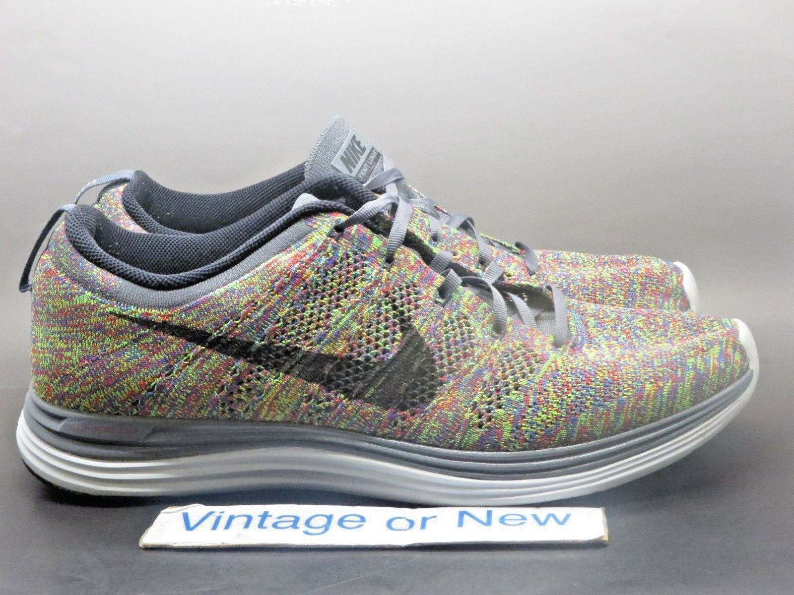 Men's Nike Flyknit Lunar+ 1 Multicolor sz Racer Running Shoes 554887-004 sz Multicolor 12 f81102