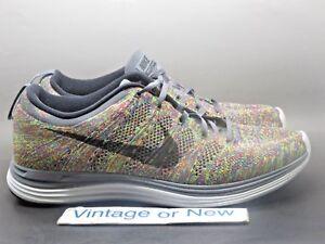 0028f9ad83b68 Men s Nike Flyknit Lunar+ 1 Multicolor Racer Running Shoes 554887 ...
