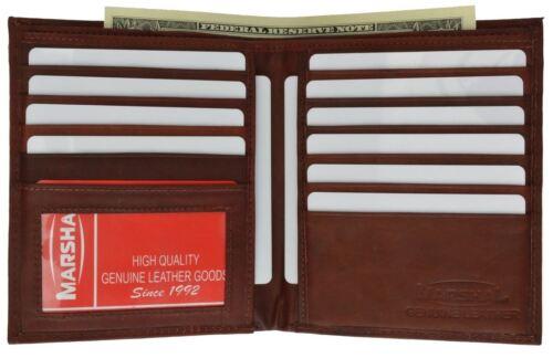 Marshal Men/'s Genuine Leather Bifold Wallet Slim Hipster Cowhide Credit Card New