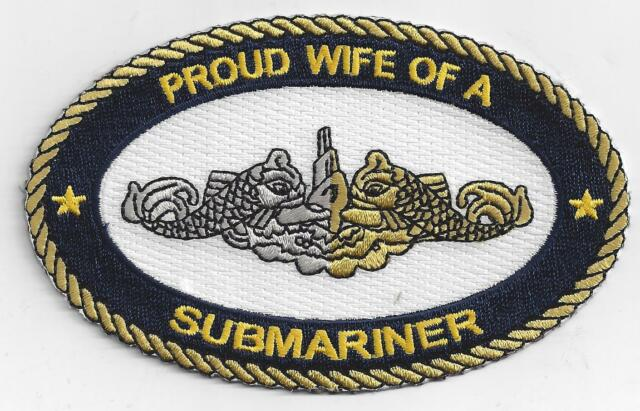 Proud Wife of a Submariner, BC Patch Cat no. c7156 - Heat Seal