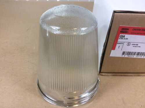 CROUSE-HINDS G54  CLEAR GLASS GLOBE New In Box