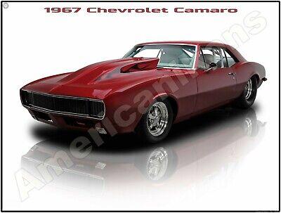 1967 Chevrolet Camaro Drag Car New Metal Sign Pristine Restoration