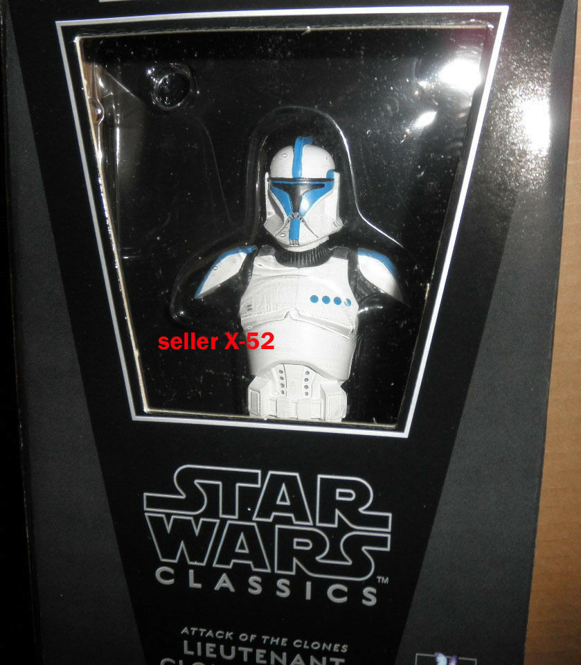 Star - wars - Blau - klon soldat büste abbildung gentle giant fanclub aotc lt streifen 08