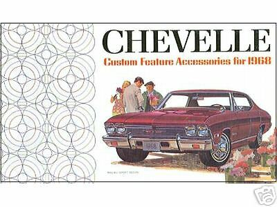 1968  CHEVELLE//SS CUSTOM FEATURE ACCESSORIES  BROCHURE