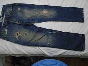 FAT-FACE-STRAIGHT-LEG-DISTRESSED-BLUE-MEN-039-S-JEANS-L30-034-W34-034