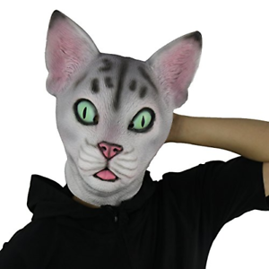 halloween novelty mask costume party latex cute cat mask