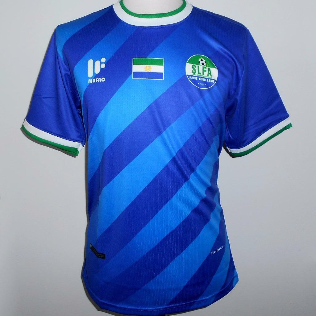SIERRA LEONE Official Mafro Home Football Shirt 2017-2018 NEW Mens Soccer Jersey